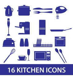 kitchen icon set eps10 vector image