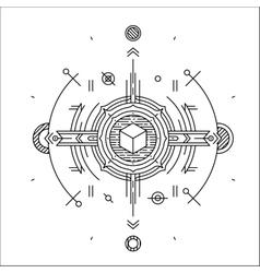 Linear technology space design Modern futuristic vector