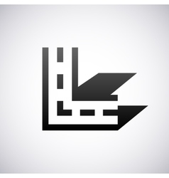 logo for letter L Design template vector image