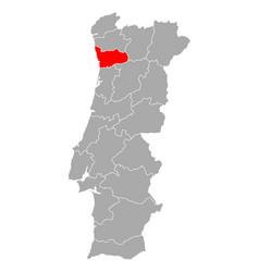Map porto in portugal vector