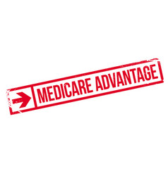 Medicare advantage rubber stamp vector
