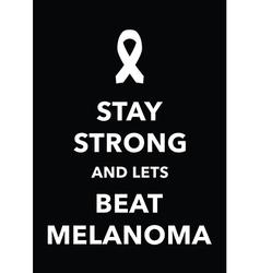 melanoma poster vector image