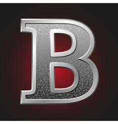 Metal letters b vector