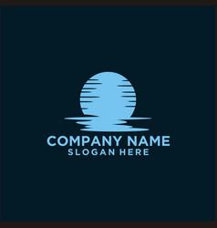 Moon logo design vector