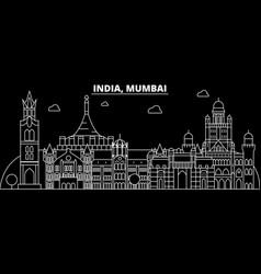 Mumbai silhouette skyline india - mumbai vector