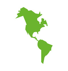 New continent geography maps icon vector