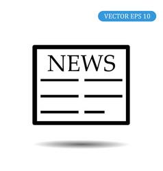 news icon eps 10 vector image