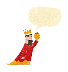 one of the three wise men with speech bubble vector image