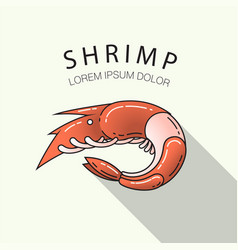 orange shrimp vector image