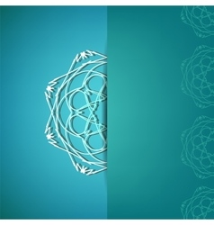 Ornamental pattern ion azure background vector