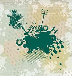 Park Romance Concept Background vector image