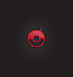 Pokemon go pokeball background vector