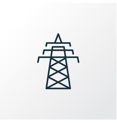 power tower icon line symbol premium quality vector image