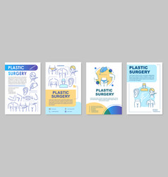 reconstructive plastic surgery brochure template vector image