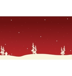 Red backgrounds Christmas spruce of silhouette vector