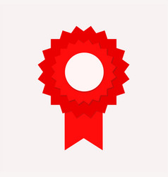 red seal guarantee win with ribbon stock vector image
