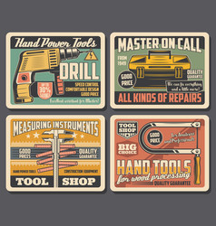 Repair and construction work hand tools shop vector