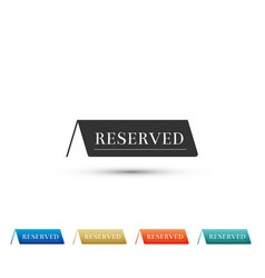 Reserved icon isolated on white background vector