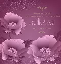 Romance background vector