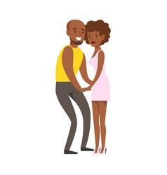 romantic couple dancing slowly on danceloor part vector image