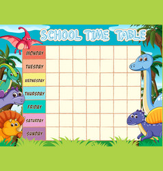 school timetable template vector image