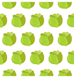 Seamless pattern with cabbage vector image