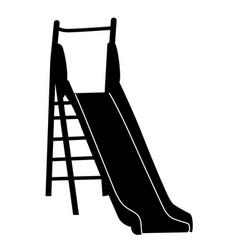 slide playground for children on white vector image