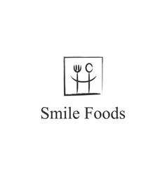 smile restaurant food logo design inspiration vector image