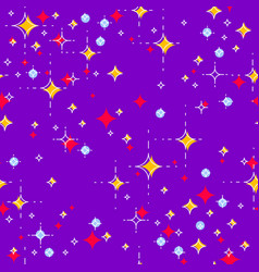 Space seamless background with stars undiscovered vector