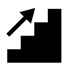 Stairs growth the black color icon vector