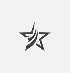 star icon design star logo vector image