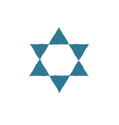 star of david shape icon in flat design vector image