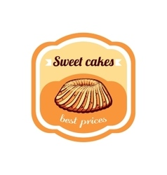 Sticker sweet cakes best prices vector