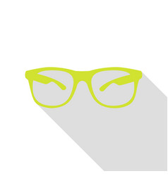 sunglasses sign pear icon with flat vector image