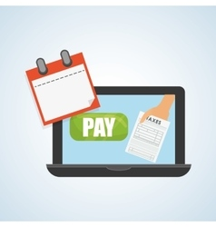 Taxes design finance icon Taxation concept vector
