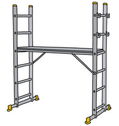 The steel small scaffolding vector
