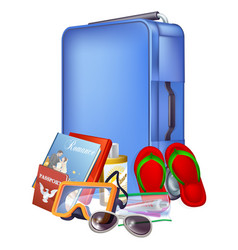 trolley case and packing vector image