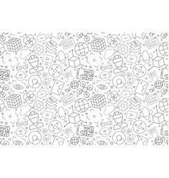 virtual reality pattern vector image