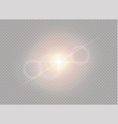 white sunlight light vector image