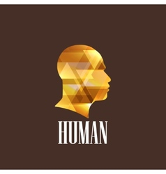 with a human head vector image