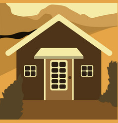 wooden house eco house house on the nature vector image