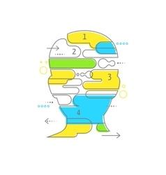 Brain Creative mind man head infographics vector image vector image