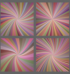 Colorful spiral and ray burst background set vector image vector image