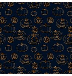 Festive decoration pumpkins vector image vector image