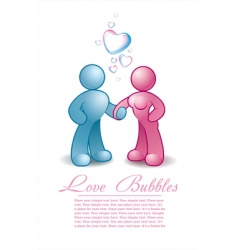 male and female holding hands vector image vector image