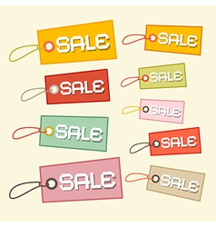 Retro Paper Sale Tags Labels vector image vector image