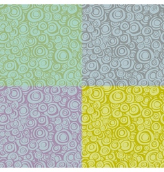 Seamless loop spiral patterns in multiple color vector