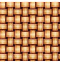 Seamless Wicker Texture vector image vector image