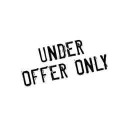 Under offer only rubber stamp vector