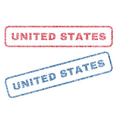 united states textile stamps vector image vector image